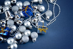 Shinny globes and gifts royalty free stock image