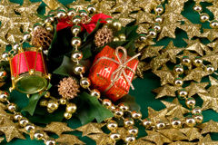 Shinny golden christmas Royalty Free Stock Photos