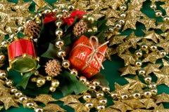 Shinny golden christmas royalty free stock photos