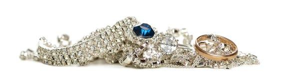 Shinny jewellery, odizolowywającego zdjęcie royalty free
