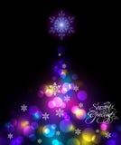 Shinny l'arbre de Noël Images stock
