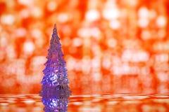 Shinny l'arbre de Noël en verre Photographie stock libre de droits