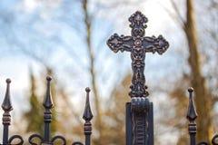 Shinny le symbole croisé de la résurrection et du salut de Jesus Christ Image stock