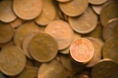 Shinny a moeda da moeda de um centavo Fotos de Stock Royalty Free