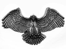 Shinny old metal eagle symbol Stock Photography