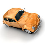 Shinny orange European vintage car Royalty Free Stock Photo