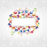 Shinny rainbow baloon flower boll glossy backgroun Royalty Free Stock Images