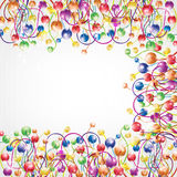 Shinny rainbow color boll frame glossy background Stock Image