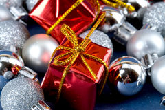 Shinny Red Gift Royalty Free Stock Photos