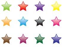 Shinny stars. Vector illustration of shinny stars royalty free illustration