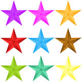 Shinny Stars Collection Royalty Free Stock Image