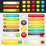 Shinny teclas coloridas do Web ilustração stock
