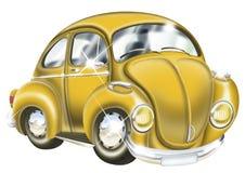 Shinny Yellow Car. Cartoon illustration of a yellow color car Stock Photos