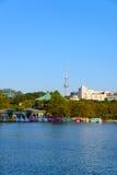 Shinobazu Pond and Tokyo Skytree Royalty Free Stock Photography