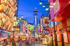 Shinsekai av Osaka Arkivbild