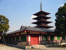 Shintennoji świątynia - Osaka, Japonia obrazy royalty free