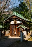 Shinto Altar. An outdoor shinto altar in the early morning winter sunlight Stock Images