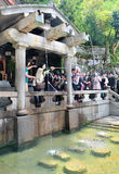 Shinto believers rinse their mouths and clean their hands Royalty Free Stock Photography
