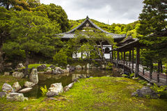 Shinto buddhist detail temple and garden in Kyoto, Japan Stock Photo