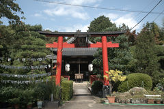 Shinto gate in the buddhist Kaiko Temple, Kyoto, Japan Royalty Free Stock Photo