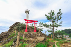A Shinto gateway on Benten rock. Stock Image