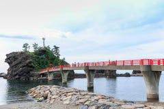 A Shinto gateway on Benten rock. Royalty Free Stock Photography