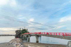 A Shinto gateway on Benten rock. Royalty Free Stock Images
