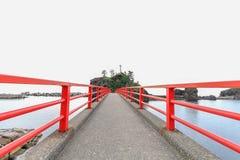 A Shinto gateway on Benten rock. Stock Photography