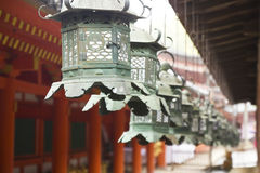 Shinto old metal lamps Stock Image