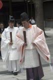 Shinto priests, Tokyo, Japan Stock Image