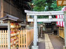 Shinto shine small inner courtyard in Tokyo, Japan. royalty free stock photo
