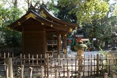 A Shinto shrine in Japan royalty free stock photo