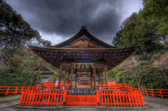 Shinto shrine in Kyoto Royalty Free Stock Photos