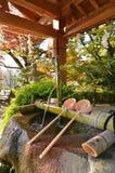Shinto shrine purification basin Royalty Free Stock Photography