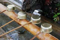 Shinto shrine purification basin Stock Photography