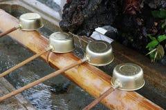 Shinto shrine purification basin Stock Photography