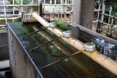 Shinto shrine purification basin Royalty Free Stock Photography