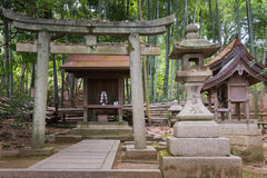 Shinto shrine at Shorenin Buddhist Temple. Royalty Free Stock Images