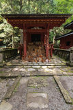 Shinto shrine with wooden plaques Royalty Free Stock Image