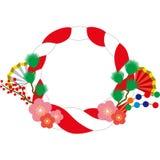Shinto straw festoon. Of the New Year holidays decoration Royalty Free Stock Photos
