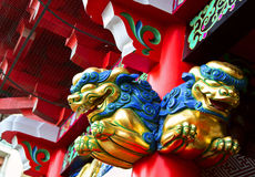 Shinto temple detail in Tokyo, Japan. Royalty Free Stock Photo