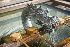 Shinto temple dragon Stock Images