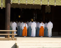 Shinto Temple Ritual Worship Royalty Free Stock Photo
