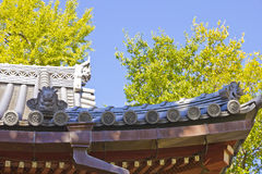 Shinto temple roof Royalty Free Stock Image