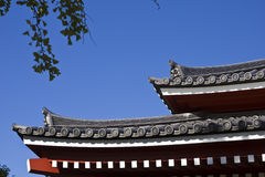 Shinto temple roof Royalty Free Stock Images