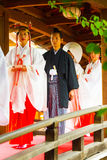 Shinto Wedding Groom Maiden Yushima Tenmangu Stock Photo