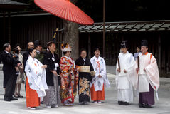 Shinto wedding, Tokyo, Japan Stock Photography