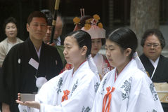 Shinto wedding, Tokyo, Japan Royalty Free Stock Images