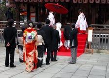 Shintoistische Hochzeit Lizenzfreie Stockbilder