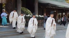 Shintoistische Priester stock footage